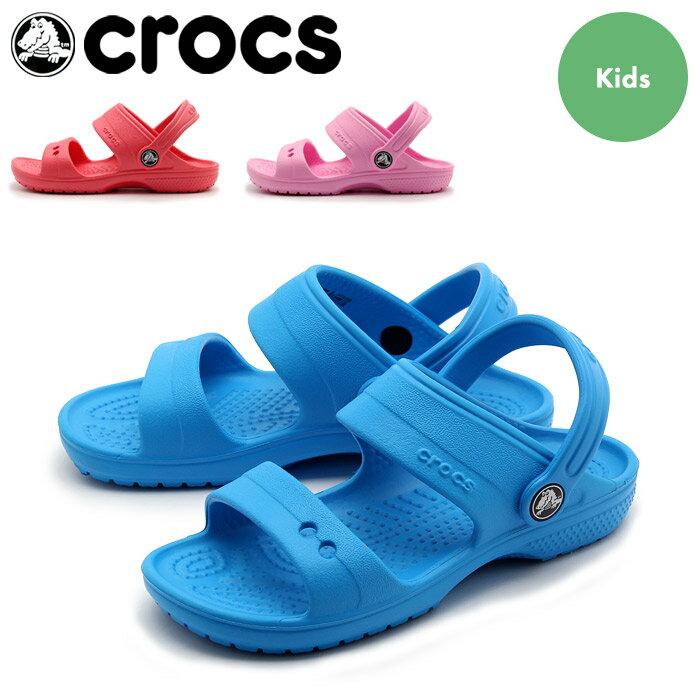 クロックス キッズ クラシック サンダル (crocs kids classic sandal) つっかけ アウトドア シューズ 靴 ベビー キッズ 子供 男の子 女の子 誕生日プレゼント 結婚祝い ギフト おしゃれ 夏