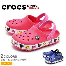 【クーポン配布中】クロックス クロックバンド ミッキー&ミニー (crocs crocband mickey minnie 204993 4GX 204992 6NP) ディズニー disney シューズ 靴 誕生日プレゼント 結婚祝い ギフト おしゃれ 夏