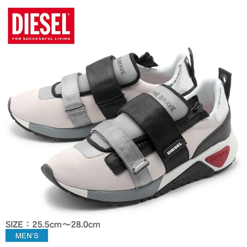 【クーポン配布中】DIESEL ディーゼル スニーカー ホワイト S-KB STRAP Y01883-PS494 H6792 メンズ ブランド 靴 シューズ 個性 ベルクロ ベルト ジッパー スポーツミックス 誕生日 プレゼント ギフト