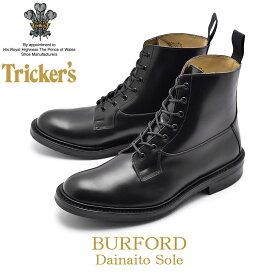 TRICKER'S トリッカーズ カジュアルシューズ ブラック バーフォード BURFORD 5635/6 黒 ブーツ レザー 革 レースアップ カントリー ドレスブーツ メンズ 男性用