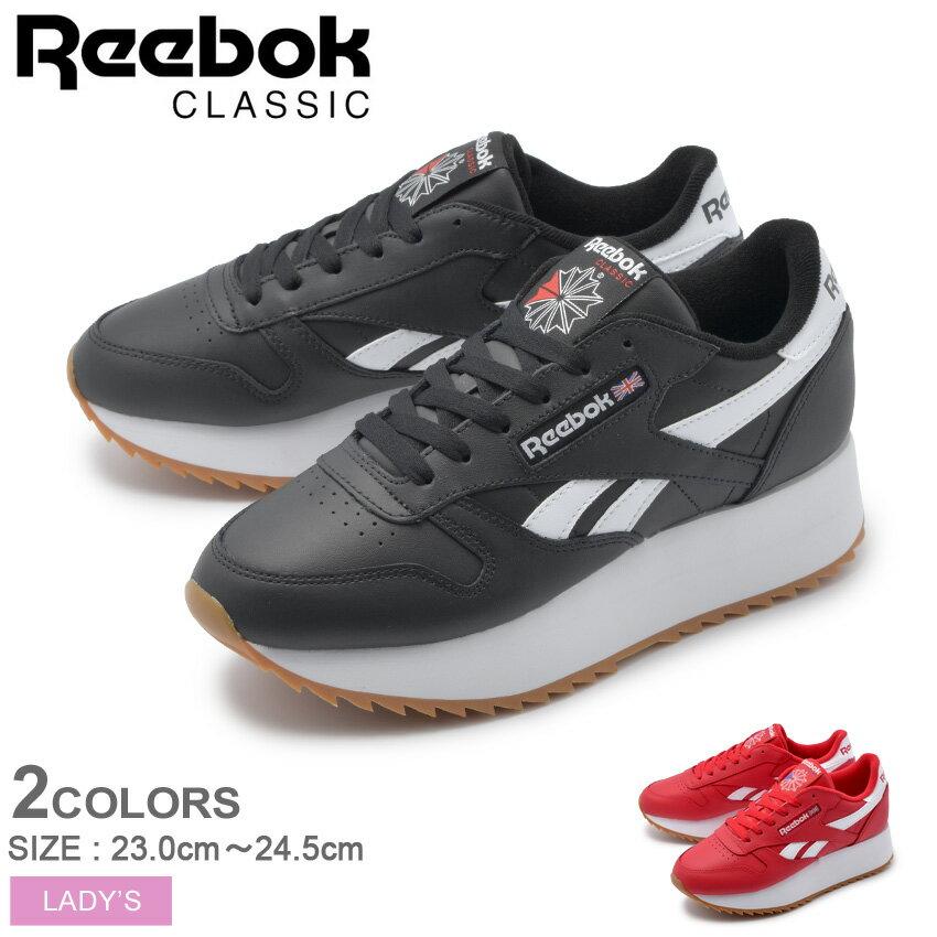 【クーポン配布中】 REEBOK リーボック スニーカー クラシックレザー ダブルEF CL LTHR DOUBLE EF DV3631 DV3632 レディース 誕生日 プレゼント ギフト 厚底 靴