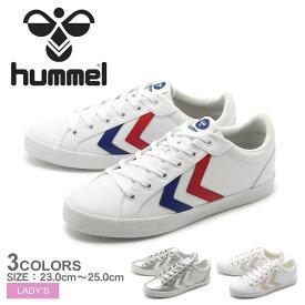 HUMMEL ヒュンメル スニーカー デュースコートスポーツ DEUCE COURT SPORT HM204506 1508 8258 9001 レディース シンプル カジュアル 靴 シューズ おしゃれ カジュアル アウトドア シルバー 白 誕生日 プレゼント ギフト