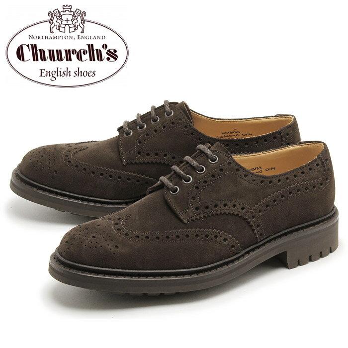チャーチ マクファーソン スウェード ウィングチップ シューズ ブラウン (CHURCH'S MCPHERSON SUEDE WINGTIP) スエード レザー 本革 オックスフォード カジュアル 短靴 メンズ 男性 誕生日プレゼント 結婚祝い ギフト おしゃれ