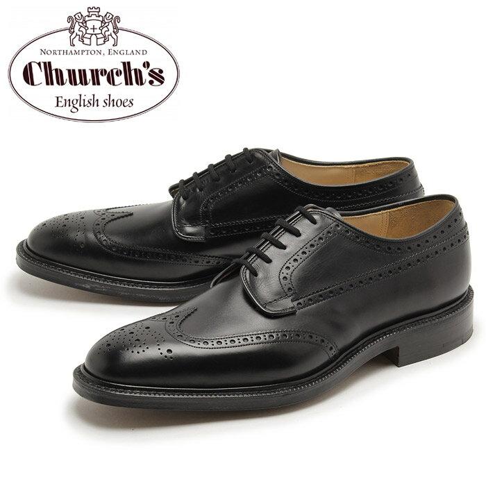 チャーチ グラフトン 173 ウィングチップ シューズ ブラック (CHURCH'S GRAFTON 173 WINGTIP) 黒 レザー 本革 オックスフォード カジュアル ドレス 短靴 メンズ 男性 誕生日プレゼント 結婚祝い ギフト おしゃれ