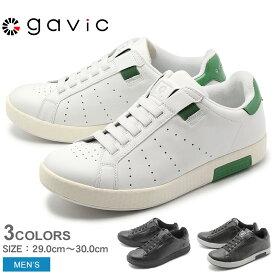 GAVIC LIFE STYLE ガビック スニーカー ゼウス BIGサイズ ZEUS GVC001 メンズ 男性 靴 黒 白 通勤 通学 本革 カジュアル ローカット 大きいサイズ シンプル スリッポン 父の日