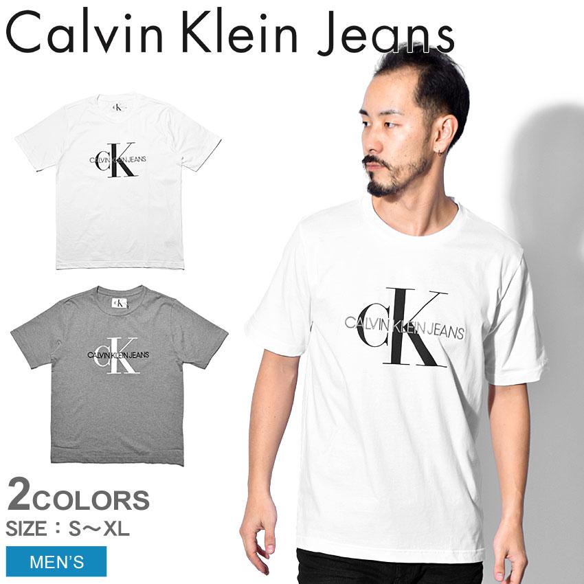 【メール便可】 CALVIN KLEIN JEANS カルバンクラインジーンズ Tシャツ モノグラム エンブロ W/O ボックス MONOGRAM EMBRO W/O BOX J30J311293 112 039 メンズ CK ブランド カジュアル 半袖 ロゴ シンプル プレゼント ギフト 定番 白 誕生日 プレゼント ギフト