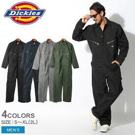 ディッキーズ Dickies DICKIES つなぎ ツナギ 長袖 デラックス ブレンド カバーオール 48799 DELUXE BLENDED COVERALL トップス ウェア 作業服 オーバーオール オールインワン シンプル 無地 刺繍 タグ dickies メンズ 男性