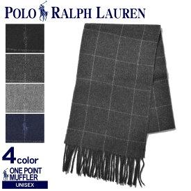 POLO RALPH LAUREN ポロ ラルフローレン マフラー ワンポイント チェックマフラー PC0230 001 003 013 410 メンズ レディース
