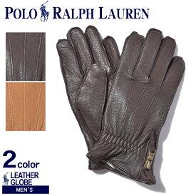 【今だけクーポン配布中】ラルフローレン 手袋 ディアスキン サイドジップ グローブ POLO RALPH LAUREN ポロ PG0048 209 215 人気 ブランド 女の子 男の子 メンズ 父の日 実用的