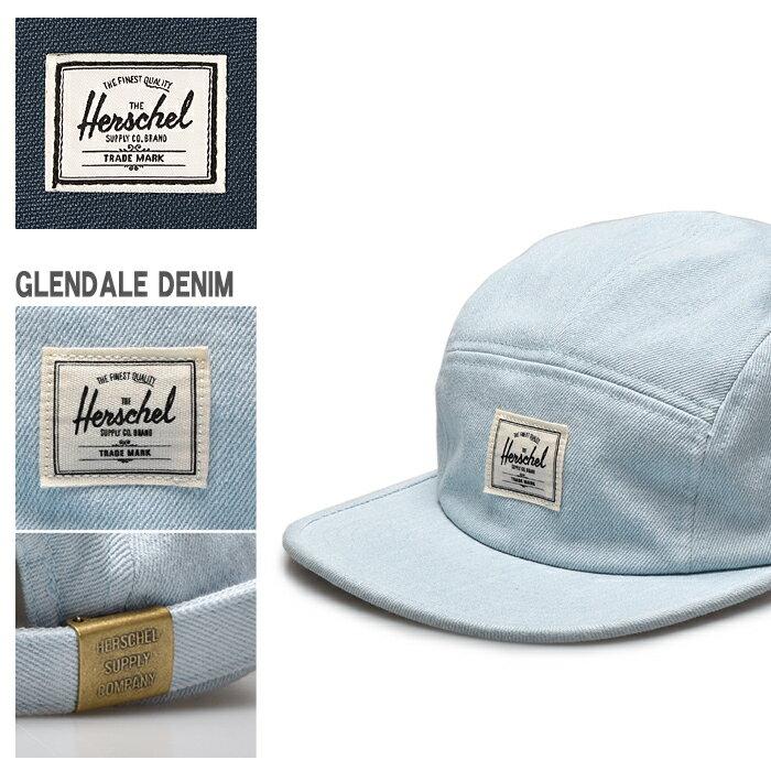 HERSCHEL SUPPLY ハーシェル サプライ GLENDALE ライトブリーチ デニム 帽子 ジェットキャップ シンプル メンズ レディース ユニセックス 誕生日プレゼント ギフト おしゃれ 夏