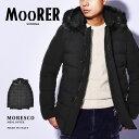 【今だけクーポン配布中】ムーレー MORESCO アウター MOORER メンズ A20M220 ブラック 黒 ジャケット ダウン ブランド カジュアル シンプル フォーマル クラシック ビジネス 上着 通勤 防寒 保温 おしゃれ 紳士 誕生日 プレゼント ギフト