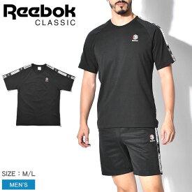 【メール便可】REEBOK CLASSIC リーボック クラシック Tシャツ ブラック CL テープト Tシャツ CL TAPED T-SHIRT メンズ トップス スポーティ カジュアル ロゴ シンプル ストリート コットン 綿 黒 誕生日 プレゼント ギフト
