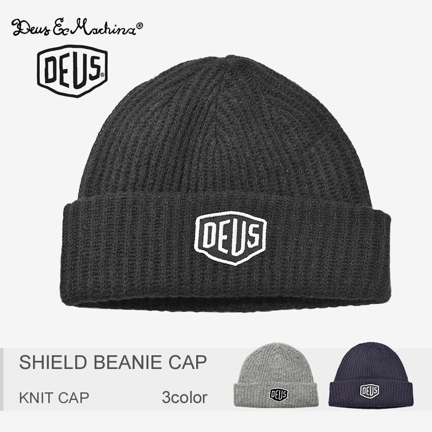 【メール便可】DEUS EX MACHINA デウス エクス マキナ ニット帽 シールド ビーニー キャップ SHIELD BEANIE CAP DMW 47269 カジュアル ロゴ 帽子 キャップ ウール メンズ 男性 レディース 女性 ギフト 内祝い 誕生日 結婚祝い