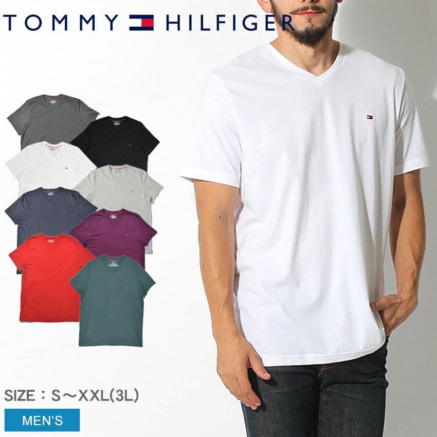 【クーポン配布中】【メール便可】 TOMMY HILFIGER トミーヒルフィガー Tシャツ ベーシック コットン コア フラッグ Basic Cotton Core Flag 09T3140 Vネック インナー ナイトウェア 下着 コットン 無地 FLAG 大きいサイズ クールビズ メンズ 男性 誕生日 結婚祝い