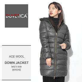 デュベティカ DUVETICA ダウンジャケット グレー アチェ ウール ロング コート ACE WOOL 182-D.1140N00/1087 フード レディース 誕生日 プレゼント ギフト