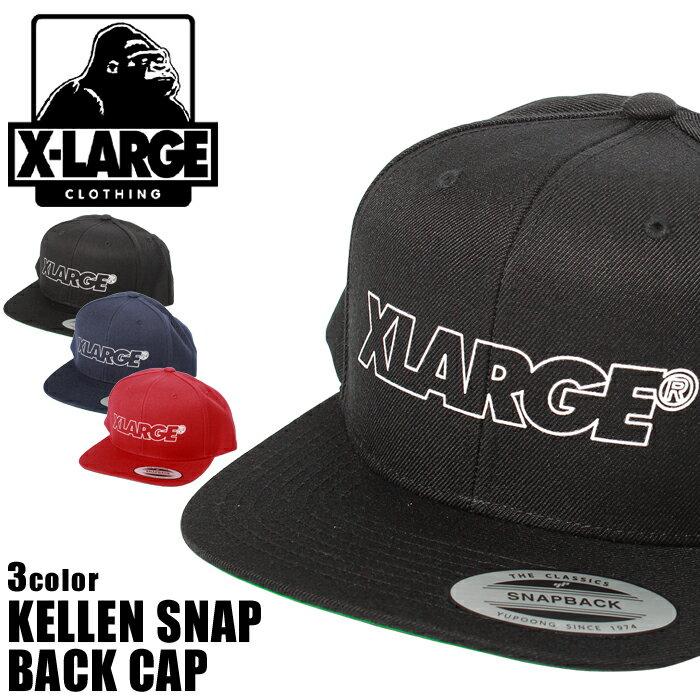 エクストララージ X-LARGE 帽子 ケレン スナップ バック キャップ KELLEN SNAP BACK CAP M17C9101 BLACK NAVY RED エックスラージ ハット メンズ レディース ユニセックス 誕生日プレゼント ギフト おしゃれ 夏
