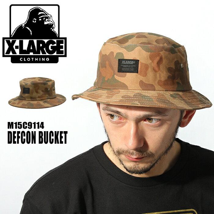 エクストラ ラージ デフコン バケット ハット (X-LARGE DEFCON BUCKET M15C9114) フラージュ ロゴ カジュアル 帽子 メンズ レディース ユニセックス 誕生日プレゼント ギフト おしゃれ 夏