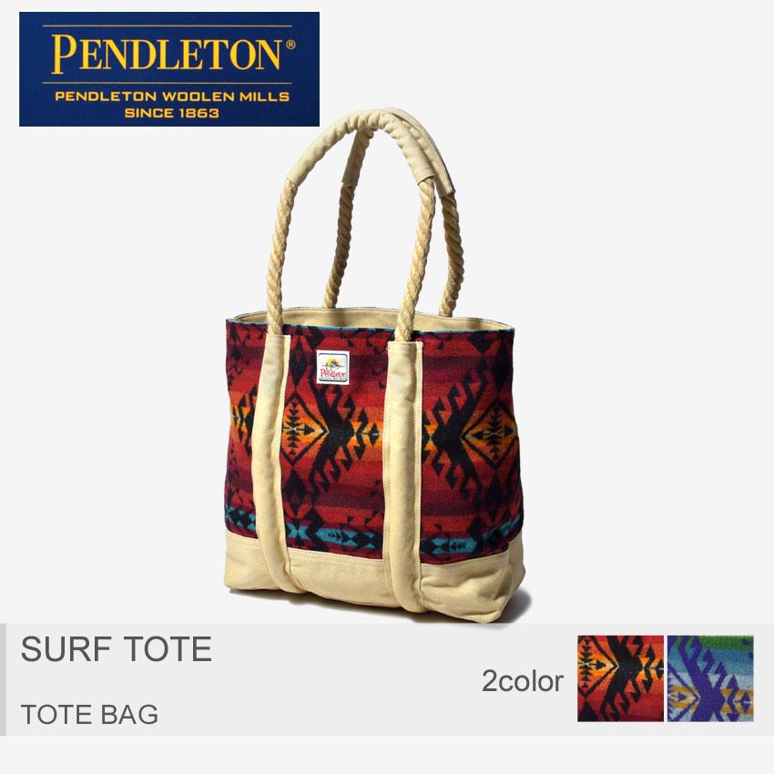 【MAX400円OFFクーポン】PENDLETON ペンドルトン トートバッグ サーフ トート 小物 SURF TOTE DB109 15798 15800 メンズ レディース BAG バック ネイティブアメリカン ビーチバッグ サーフィン 海 柄 鞄 大容量 赤 青 黒 幾何学 ウール ロープ