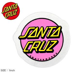サンタ クルーズ OTHER DOT STICKER 1IN ステッカー SANTA CRUZ 88281624 ピンク イエロー ロゴ シール スケートボード スケボー スポーツ アウトドア ストリート おしゃれ デッキ ヘルメット PC スマホケ