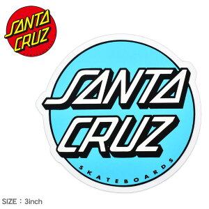 サンタ クルーズ OTHER DOT STICKER 3IN ステッカー SANTA CRUZ 88281520 ブルー ホワイト 白 ロゴ シール スケートボード スケボー スポーツ アウトドア ストリート おしゃれ デッキ ヘルメット PC スマホ
