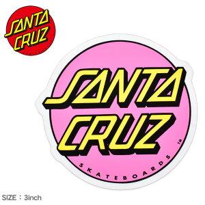 サンタ クルーズ OTHER DOT STICKER 3IN ステッカー SANTA CRUZ 88281520 ピンク イエロー ロゴ シール スケートボード スケボー スポーツ アウトドア ストリート おしゃれ デッキ ヘルメット PC スマホケ
