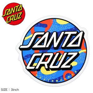 サンタ クルーズ PRIMARY DOT STICKER 3IN ステッカー SANTA CRUZ メンズ レディース 88281747 ブルー ロゴ シール スケートボード スケボー スポーツ アウトドア ストリート おしゃれ デッキ ヘルメット P