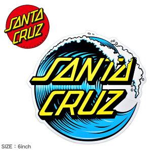 【今だけクーポン配布中】サンタ クルーズ WAVE DOT 6IN ステッカー SANTA CRUZ 88281525 ブルー マルチ ロゴ スケートボード ボード スケボー スポーツ アウトドア タイヤ ストリート 定番 雑貨 おし