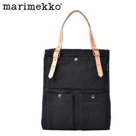 マリメッコ トートバッグ レディース Toimi MARIMEKKO メンズ 37523 ブラック 黒 ブランド ロゴ 定番 人気 かわいい おしゃれ カジュアル シンプル 普段使い NORMI LAUKUT 1 コットン 誕生日 プレゼント ギフト