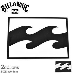 【メール便可】 ビラボン プリントステッカー W9.5cm シール BILLABONG ブラック 黒 ホワイト 白 ロゴ カスタム 車 自転車 スノーボード サーフボード クーラーボックス タンブラー マイボトル ラ