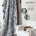 全国送料無料 クリッパン KLIPPAN シュニール コットン ブランケット 2cats TWO CATS ネコ 180×140(KLIPPAN CHENILL...