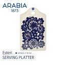 【今だけクーポン配布中】アラビア エステリ サービングプラター ARABIA ESTERI SERVING PLATTER 1024339 ブルー 皿 …