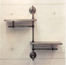 インダストリアル メタルウォールシェルフ121Industrial Metal Wall シェルフ【送料無料】