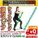 セラバンドCLX 9ループタイプ グリーン THERABAND CLX [TCB-3] [強度:ヘビー +1] [150cm] D&M 全5色 シェイプアップ …