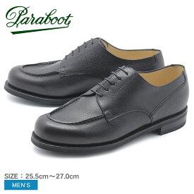 PARABOOT パラブーツ レザーシューズ ブラック シャンボード CHAMBORD 1701 メンズ 黒 靴 シューズ 紳士靴 短靴 本革 グレインレザー レースアップシューズ カジュアル ビジネス