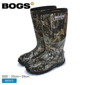 BOGS ボグス レインブーツ カーキ クラシック カモ CLASSIC CAMO 60542 メンズ ロング おしゃれ 雨靴 長靴 防水 防滑 ブーツ ボタニカル柄 アウトドア フェス