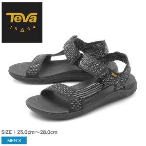 【クーポンでさらに200円引き】TEVA テバ サンダル メンズ ブラック テラフロート 2 ニット エボルブ TERRA FLOAT 2 EVOLVE 1099432 BLK テヴァ アウトドア ストラップサンダル サンダル ビーチサンダル