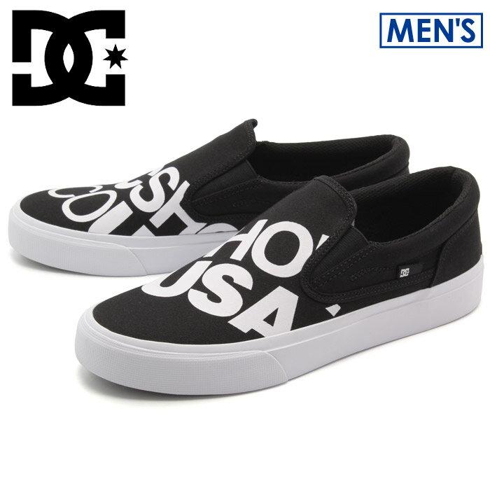 DCシューズ DCSHOECOUSA スニーカー TRASE SLIP-ON ブラック(DCSHOECOUSA DM172021 001 )メンズ(男性用) 靴 シューズ ローカット スポーツ 運動