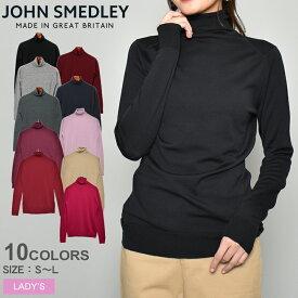JOHN SMEDLEY ジョンスメドレー セーター カットキン セーター CATKIN SWEATER レディース スリムフィット タートルネック ハイネック ウィメンズ ニット ハイゲージ メリノウール とっくり 無地 SLIM FIT ウェア トップス 黒 赤 青 白
