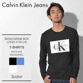 CALVIN KLEIN JEANS カルバンクラインジーンズ 長袖Tシャツ 全3色 モノグラム ボックスロゴ ロングスリーブ Tシャツ MONOGRAM BOX LOGO CTN L/S J30J307853 099 404 112 メンズ