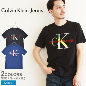 【メール便可】 CALVIN KLEIN JEANS カルバンクラインジーンズ 半袖Tシャツ メンズ アンディ・ウォーホル モノグラム シャドウ S/S ティー ANDY WARHOL MONOGRAM SHADOW SS TEE 41T0151 CK ウェア 半袖 ブランド カジュアル コットン 定番 人気 黒 ブラック 青