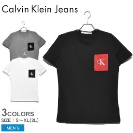 【メール便可】カルバンクラインジーンズ 半袖Tシャツ メンズ モノグラムポケットスリムTシャツ CALVIN KLEIN JEANS MONOGRAM PCKET SLIM TEE J30J314070 tシャツ トップス 半袖 無地 スポーツ おしゃれ ポケット スポーティ ブランド ウェア CK