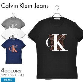 【メール便可】カルバンクラインジーンズ 半袖Tシャツ メンズ グラフィックスリムストレッチTシャツ CALVIN KLEIN JEANS GRAPHIC SLIM STRETCH TEE J30J314229 tシャツ トップス 半袖 無地 スポーツ おしゃれ スポーティ ブランド ウェア CK プレゼント