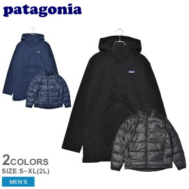 PATAGONIA パタゴニア ジャケット トレス 3 イン 1 パーカ TRES 3 IN 1 PARKA 28388 メンズ ウェア アウター パーカ カジュアル シンプル スポーティ アウトドア レジャー 上着 防寒 長袖 黒 紺