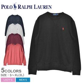POLO RALPH LAUREN ポロ ラルフローレン スウェット ワンポイント長袖スウェット 710766772 メンズ レディース コットン カジュアル シャツ トップス ウェア 部屋着 黒 グレー ネイビー 赤 ブランド 長袖 ファッション リラックス 刺繍