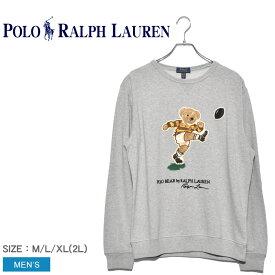 POLO RALPH LAUREN ポロ ラルフローレン スウェット グレー ポロベア長袖スウェット 323755288 メンズ コットン カジュアル シャツ トップス ウェア 部屋着 ベアー プリント グレー ブランド 長袖 ファッション クマ リラックス