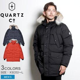 QUARTZ Co. クオーツ コー ダウンジャケット LUTSE 38730 メンズ アウター シンプル カジュアル アウトドア ブランド ファー 通勤 通学 高級 上着 保温 防寒 黒 紺 赤