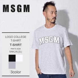 【メール便可】 MSGM エムエスジーエム Tシャツロゴ カレッジ Tシャツ LOGO COLLEGE TーSHIRT2540MM179 184798 メンズ アウトドア