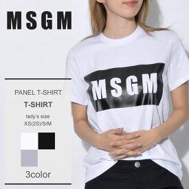 【メール便可】 MSGM エムエスジーエム Tシャツパネル Tシャツ PANEL TーSHIRT2541MDM95 184798 レディース アウトドア
