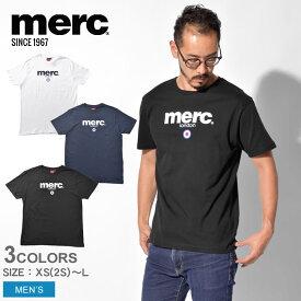 【メール便可】 MERC メルクロンドン 半袖Tシャツ ブライトン Tシャツ BRIGHTON T-SHIRT 1704136 12 001 メンズ ウェア トップス シンプル ベーシック ロゴ ブランド クラシック ブリティッシュ イギリス ロンドン プレゼント ギフト 英国 半袖 白 黒 紺