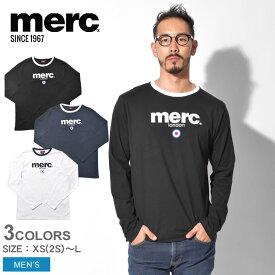 【メール便可】 MERC メルクロンドン 長袖Tシャツ ファイト Tシャツ FIGHT T-SHIRT 1704134 001 002 012 メンズ ウェア トップス シンプル ベーシック ロゴ ターゲット ブランド クラシック グラフィック イギリス ロンドン プレゼント ギフト 英国 長袖 黒 白 紺